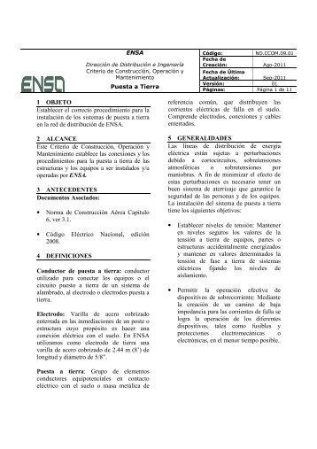 NO.CCOM.09.01 Puesta a Tierra ver01.pdf - ENSA