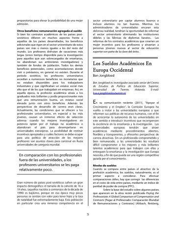 Salarios académicos en Europa Occidental
