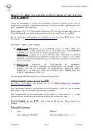 dossier d'homologation des sites nordiques - Le comité Mont-Blanc