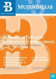 Boletín nº 28 - septiembre de 2004 - Mutua Balear