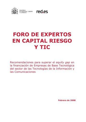 FORO DE EXPERTOS EN CAPITAL RIESGO Y TIC