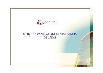 el tejido empresarial de la provincia de cádiz - Confederación de ...