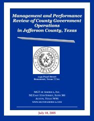 Management and Performance Review of County Government ...