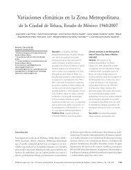 Variaciones climáticas en la Zona Metropolitana - Ciencia Ergo Sum