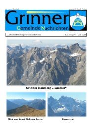 "Grinner Hausberg ""Parseier"" - Grins - Land Tirol"