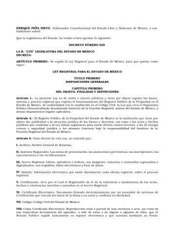 Ley 230 - Gobierno del Estado de México