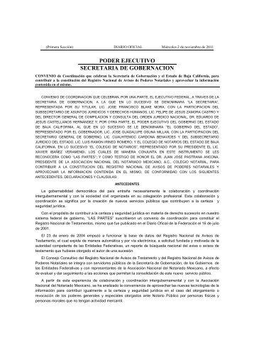 Baja California - Testamentos