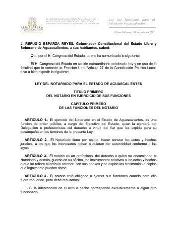 LEY DEL NOTARIADO - Testamentos