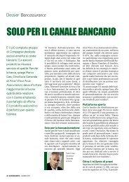 SOLO PER IL CANALE BANCARIO - Gruppo Assicurativo Arca