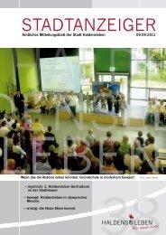Stadtanzeiger Ausgabe 09. September 2011 - Haldensleben