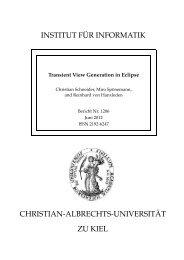 Transient View Generation in Eclipse - Institut für Informatik ...