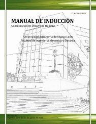 manual de inducción - Facultad de Ingeniería Mecánica y Eléctrica