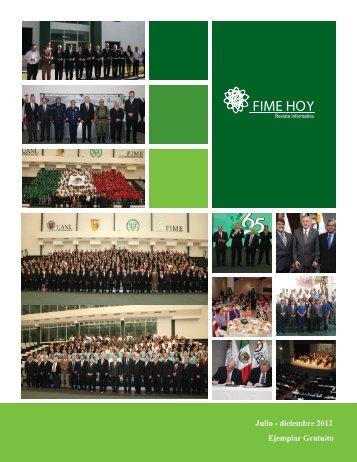 Julio-Diciembre 2012 - Facultad de Ingeniería Mecánica y Eléctrica