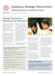Assistancy Strategic Discernment - Jesuits