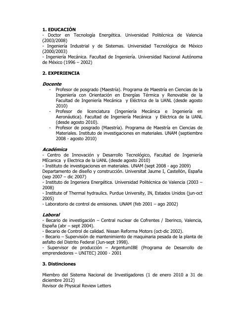 Docente Académica Laboral - Facultad de Ingeniería Mecánica y ...