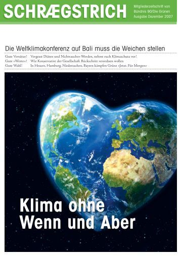 Klima ohne Wenn und Aber - gruene.de