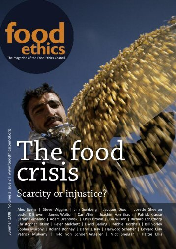 Food Ethics (summer 08) - Food Ethics Council