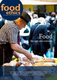 An age old concern - Food Ethics Council