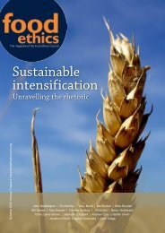 Sustainable intensification - Food Ethics Council