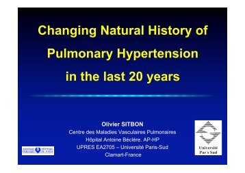 Changing Natural History of Pulmonary Hypertension in the ... - SGPH