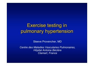 Exercise testing in pulmonary hypertension - SGPH