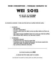 WEI 2012 - Association des Etudiants en Médecine de Marseille