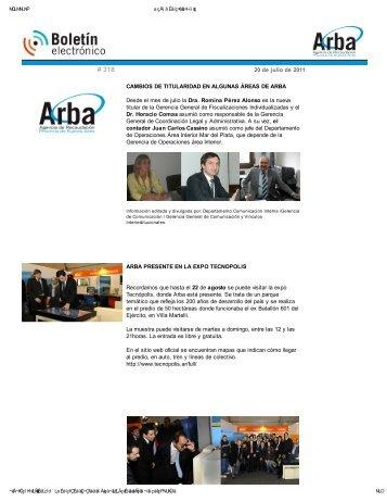 Boletin Informativo 318 - Arba