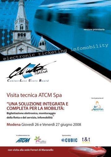 Bigliettazione elettronica, monitoraggio della flotta e del ... - Club Italia