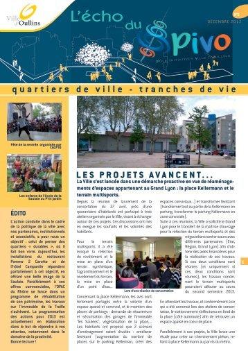 L'écho du PIVO n°6 (décembre 2012) - Ville d'Oullins