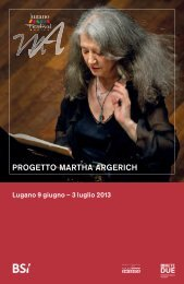 PROGETTO MARTHA ARGERICH - Lugano Turismo