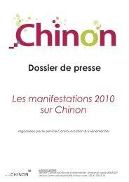 Les manifestations 2010 sur Chinon organisées par le service ...