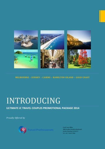 Ultimate JC Travel Couples Promotional Package 2014
