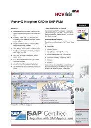 Porta~X integriert CAD in SAP-PLM - HCV Data