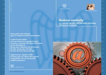 Business continuity - Confindustria IxI