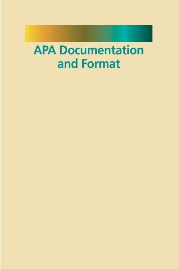 cites and sources an apa documentation guide pdf