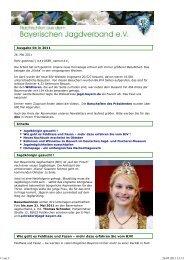 BJV-Newsletter 26. Mai 2011 - Landesjagdverband Bayern