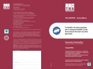 Fascicolo Informativo - Cercassicurazioni.it