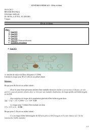 03/01/2012 BRASQUIES Marie Génétique médicale Dr. BUSA, A ...