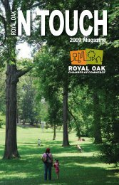 Royal Oak Chamber In Touch Magazine - Harbor House Publishers