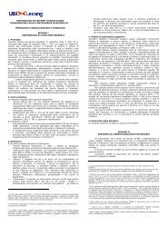 disposizioni sui sistemi di risoluzione stragiudiziale ... - UBI Leasing