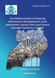 The Political Context of Financing Infrastructure Development in ...
