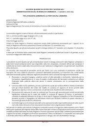 Accordo Quadro - Provincia di Mantova