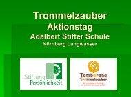 Trommelzauber Aktionstag Adalbert Stifter Schule