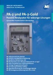 PA-2 und PA-2-Gold - Mercury Instruments