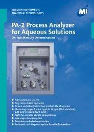 PA-2 Process Analyzer for Aqueous Solutions - Mercury Instruments ...