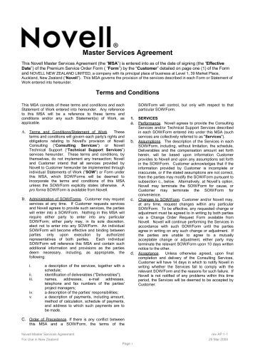 Master Consulting Agreement Statement Of Work Template Consulting