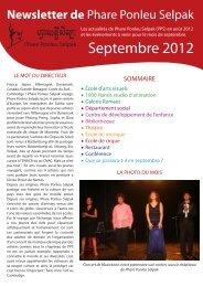 Septembre 2012 - Association le Jardin des artisans