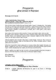 Programm tar-Randan 2011