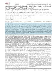 La valutazione e la prevenzione del rischio stress lavoro nell ...