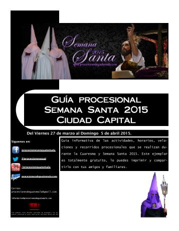 guia procesional ciudad capital  2015